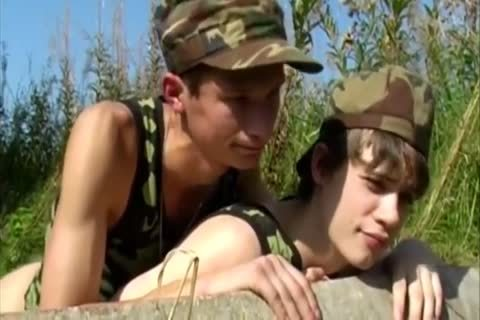 Army guys receive In On outdoors