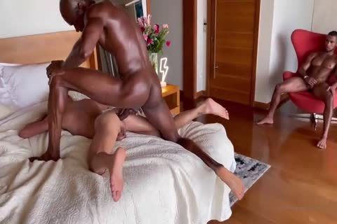 Two monstrous darksome cocks plowing Latin boy Pt.1